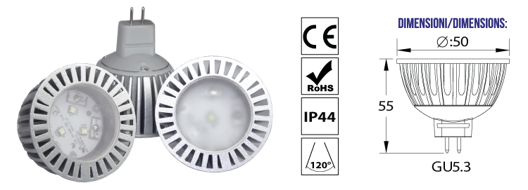 LAMPADE LED MR16 - SERIE LD